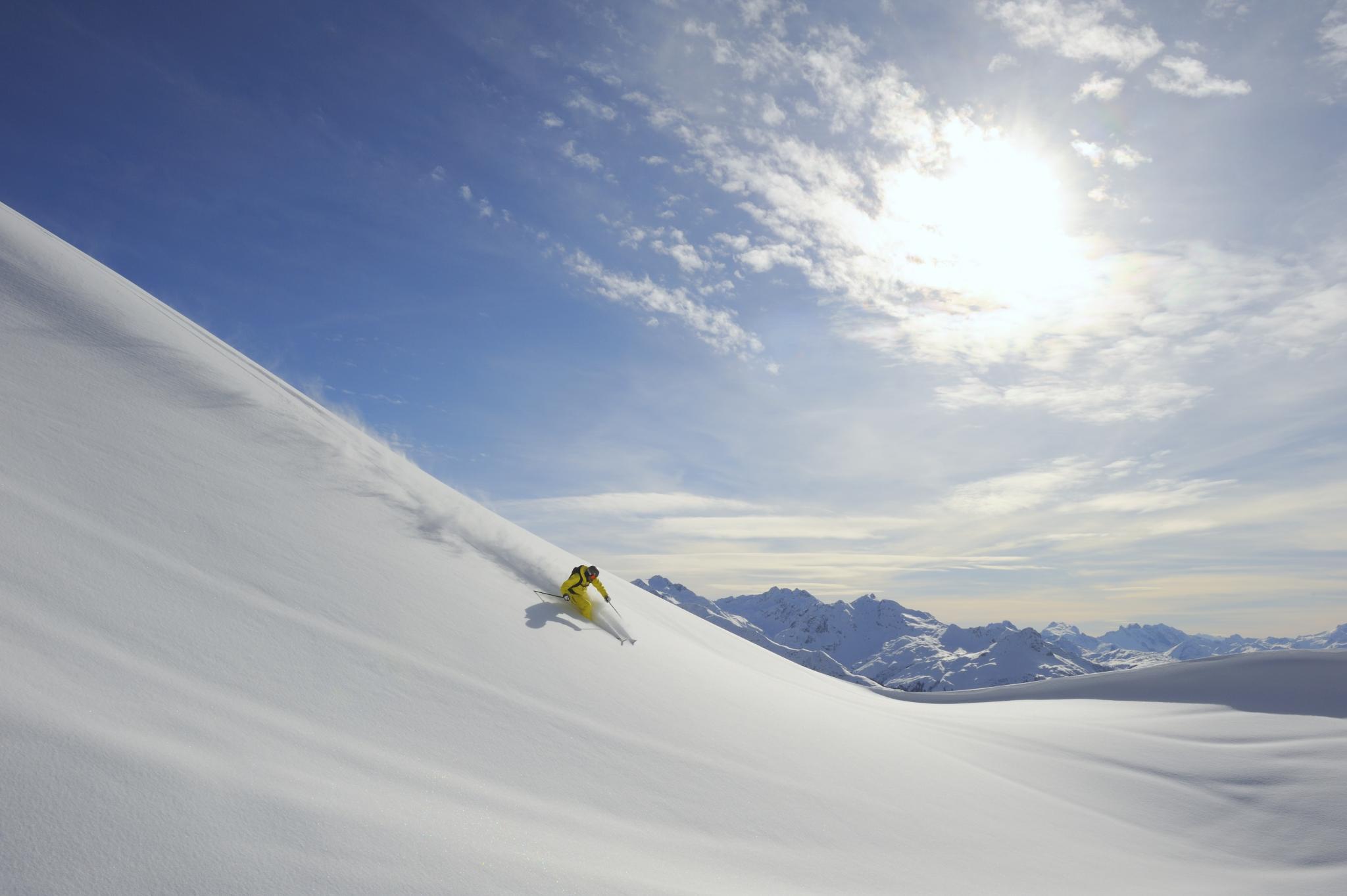 Skifahrer Piste Region Lech Zürs